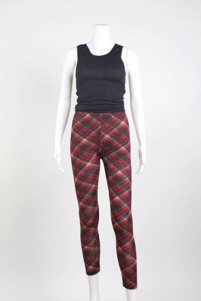 Scotch Tartan Sweater Knit Leggings