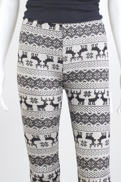 Fair Isle Reindeer Sweater Knit Leggings
