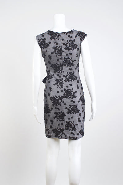 Flocked Pattern Dress