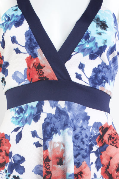Floral Printed V-Neck Dress