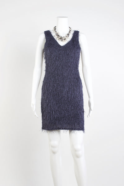 Fuzzy Wuzzy Dress - Wedgwood Blue