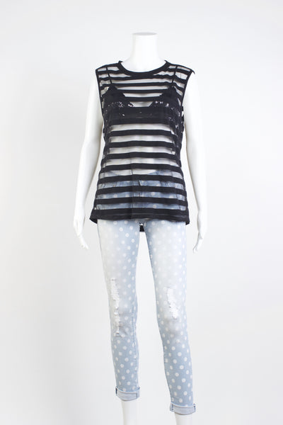 Stripe Sheer Top