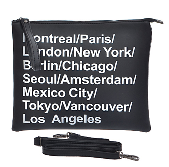 Destination City Square Clutch