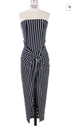 Stripe Waist Tide Dress
