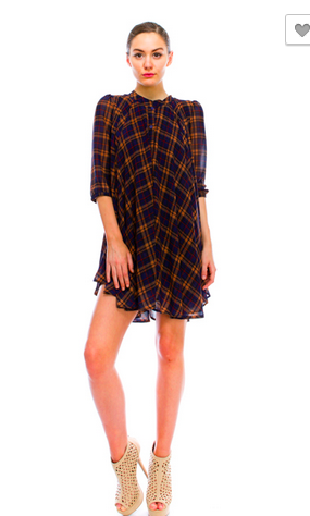 Plaid Shirts Dress