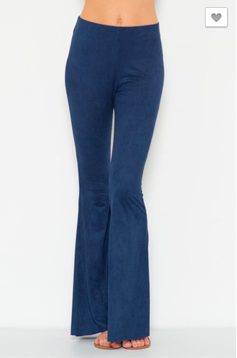 Bell Bottom Suede Pants LG 002
