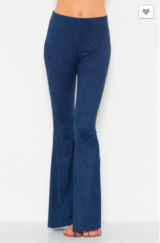Bell Bottom Suede Pants