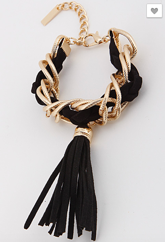 Chain and Tassel Bracelet