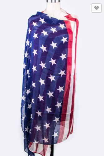 American Flag Fashion Scarf
