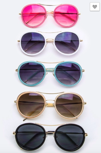 Sunglasses with Gold Tone