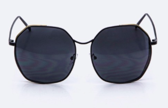 Oversized Sunglasses with Reflective Mirror Coating