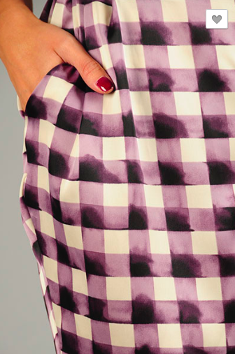 Abstract Gingham Plaid Pants