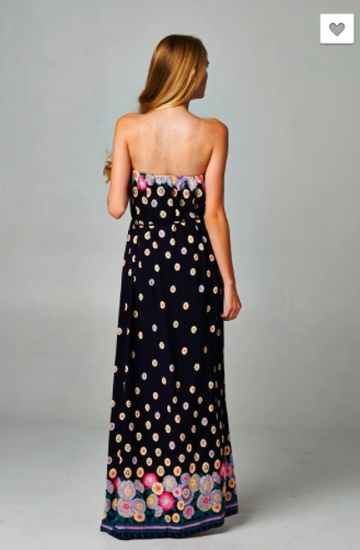 Flower Power Print Maxi Dress