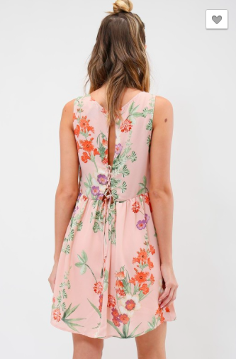 Sleeveless floral print dress