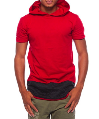 Henry & Willaim Color Block Quilted Accent Hoodie