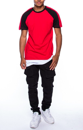 *Bleeker & Mercer Color Block Biker Tee