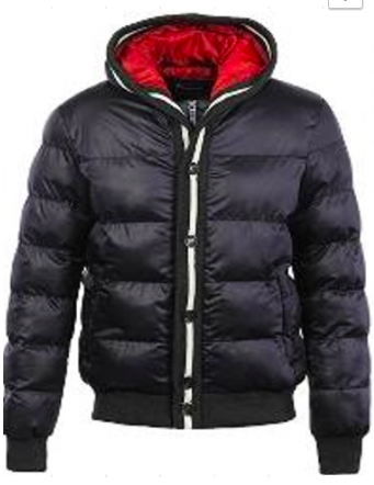 *Quilted Puffer Jacket Featuring Zip-front Closure