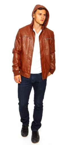 Faux-Leather/ Sherpa Retro Jecket