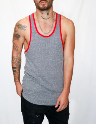 Light Weight Triblend Razor Back Tank Top
