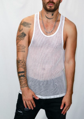 Modern 100% Cotton Mesh Razor Back Tank Top