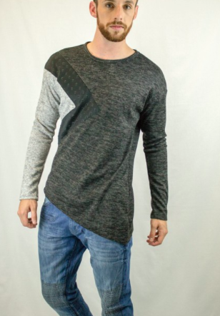 Long Sleeve Avant Garde Cut & Sew Light Sweater