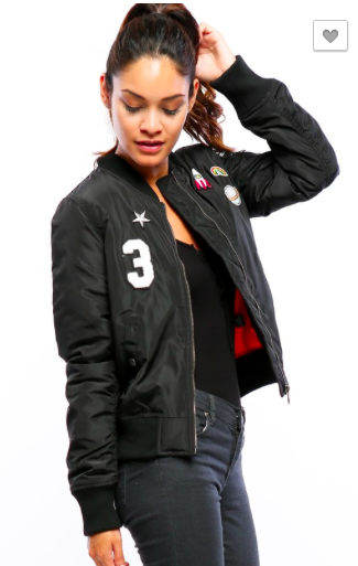 *Bomber Jacket w/ Patches