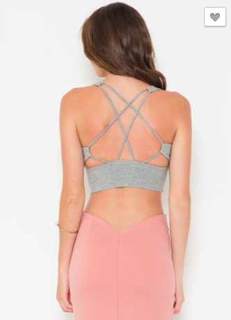 Cotton Jersey Strappy Bandeau