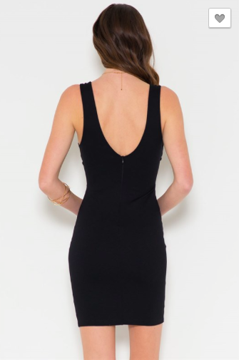 *Deep V-Neck Sleeveless Body-Con Dress