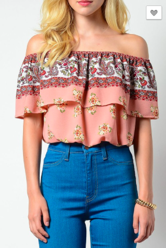 Bubble Pop Layer Off Shoulder Top