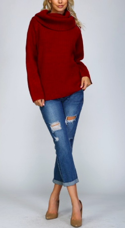 Knit Crochet Pullover Sweater