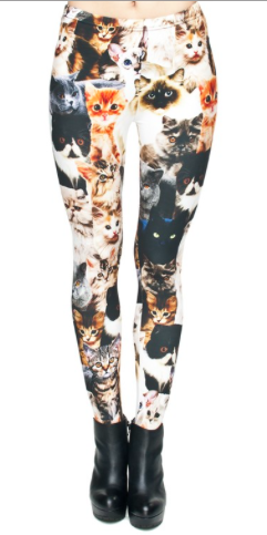 Cat Printed Leggings