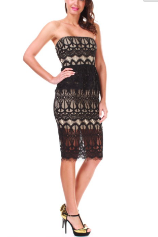 Strapless Midi Body-con Dress