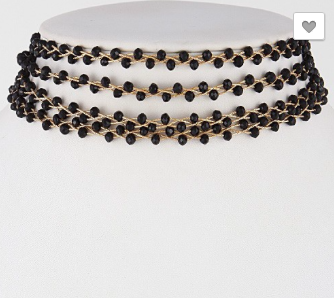 Sparkle Pearls Beaded Choker Necklace