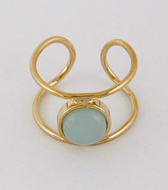 Simple Open Ring with Stone Details