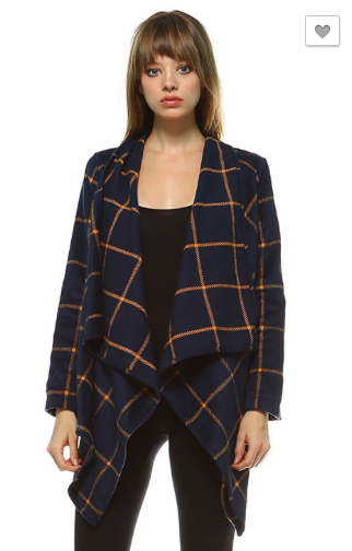 *Draped Open Front Jacket