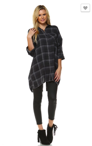 *Plaid Boxy Shirt