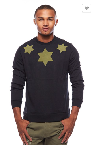 Six Point Star Crew Neck Sweater Top