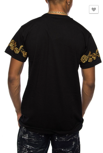 *Tiger Gold Rose Casual Shirts