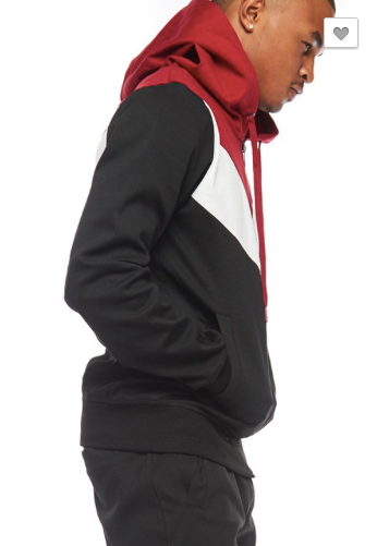 Colorblock Reverse Zipper Detail Zip Up Jacket