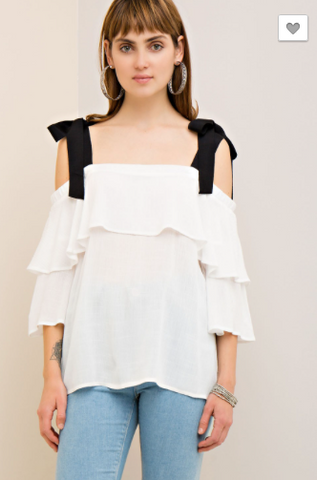 *Double Tiered Off-Shoulder Top