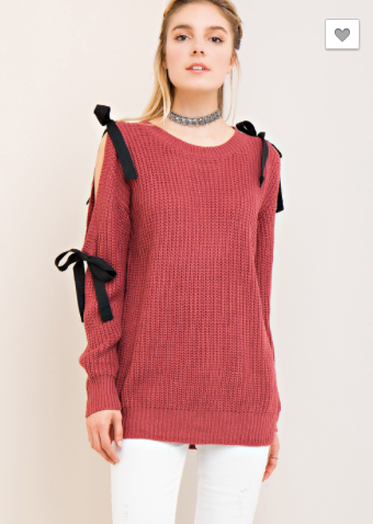 *Scoop-Neck Sweater