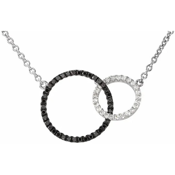 Black and White Diamonds Embrace Necklace