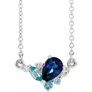 Sapphire & Diamonds Oceanic Necklace