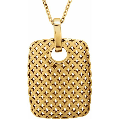 14K Gold Hatch Necklace - Argenti Designer Jewelers