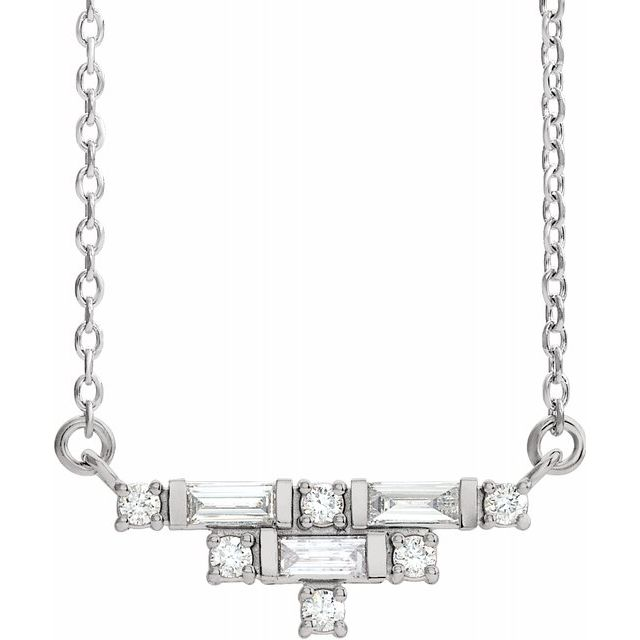Nouveau Diamond Deco Necklace