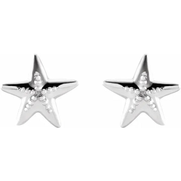 Petite Gold Starfish Earrings