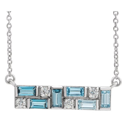 Blue Topaz & Diamond Rhapsody Necklace