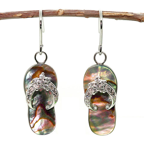 Abalone Flip Flop By The Sea - Argenti Designer Jewelers