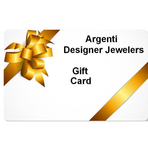 Argenti Designer Jewelers Gift Card. The most unique designer jewelry just for you.