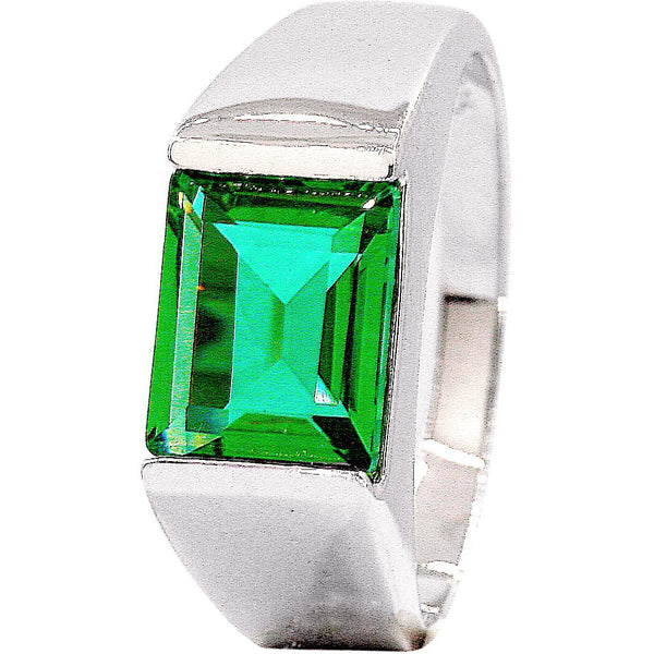 Green Quartz Signet Ring